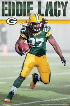 Trends International Wall Poster Green Bay Packers Eddie Lacy, x Packers Baby, Go Packers, Packers Football, Best Football Team, Football Baby, Football Memes, Greenbay Packers, Giants Baseball, Football Season
