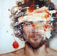The oil paintings of Barcelona-based artist Cesar Boijo start with a portrait that is immediately destroyed, creating a mesmerizing image shifting between creation and destruction.