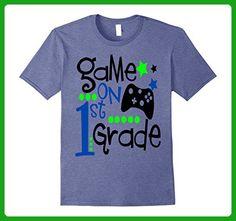 Mens First Day of School Shirt Kids Gamer Game On 1st Grade 1 Medium Heather Blue - Gamer shirts (*Amazon Partner-Link)