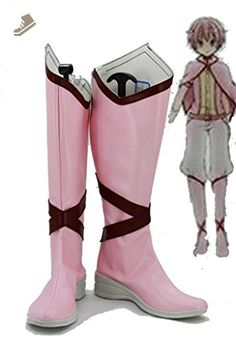Puella Magi Madoka Magica Madoka Kaname Male-Version Cosplay Shoes Boots Custom Made Pink - Telacos sneakers for women (*Amazon Partner-Link)
