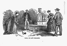 Troco, or lawn billiards. From The game of croquet, 1866.