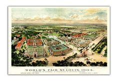13x19 St Louis World Fair View from 1904 by DejaVuPrintStore, $19.90