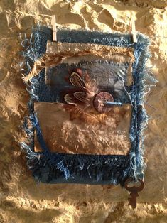 Natalie Magnin - Zamirte Textiles - Textile and Fiber Art: Indigo, Rust, Coffee and Feathers Fabric Patch, Fabric Art, Textiles Sketchbook, Art Textile, Painted Books, Fabric Manipulation, How To Dye Fabric, Fabric Flowers, Fiber Art