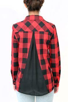 camisa estilo leñador con apertura en la espalda 4a030eedfaf