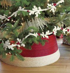 diy ideas, traditional christmas, tree collar, collars, crate