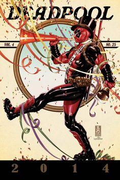 Deadpool by Mark Brooks #MarkBrooks #TheSaturdayEveningPostParody #Deadpool #WadeWilson #WeaponX #XMen #TheMercWithAMouth