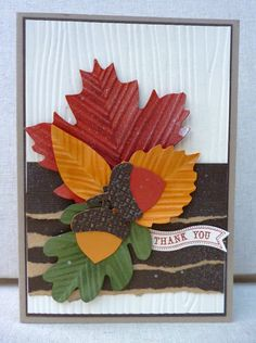 White House Stamping: Thankful leaves...