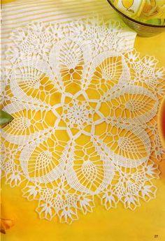 Photo from album Diana creativ 2001 on Yandex. Crochet Chart, Thread Crochet, Crochet Motif, Crochet Lace, Doily Patterns, Crochet Patterns, Crochet Dollies, Crochet Bedspread, Cross Stitch Love