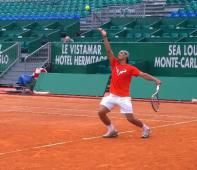 Rafael Nadal's First Practice At Monte Carlo