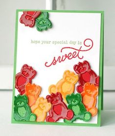 Sweet Gummi Bears Card by Betsy Veldman for Papertrey Ink (May 2013)