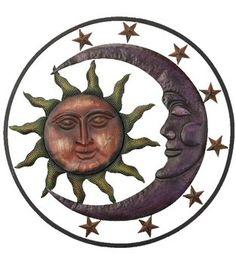 Wall Art - Metal - Sun Moon Stars