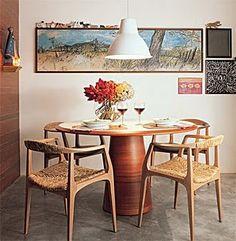 mesa de jantar redonda de madeira 2