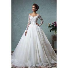 Amelia Sposa Wedding Dresses 2015 - MODwedding ❤ liked on Polyvore featuring dresses and wedding dresses