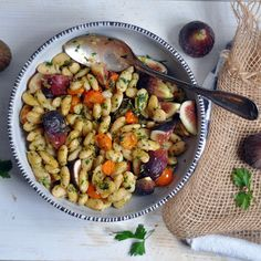 Herbed Parmesan Beans with Tomatoes and Figs | Turntable Kitchen