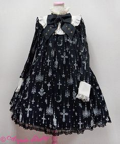 Holy Lantern one piece - black | #AngelicPretty #Lolita