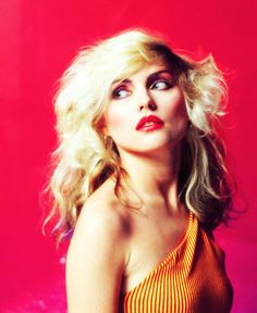 Debbie Harry/Blondie, 1970's vintage fashion, love the orange top!
