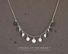 Sterling Silver Jewelry 925 Moon Phases Necklace Phases of the Moon Charms Sterling Silver Moon Necklace,Moon Phase Jewelry,Lunar Jewelry,Moon Jewelry,Astronomy Jewelry - Moon Phase Jewelry, Moon Jewelry, Dainty Jewelry, Cute Jewelry, Sterling Silver Jewelry, Gold Jewellery, Silver Rings, Women's Jewelry, Silver Bracelets