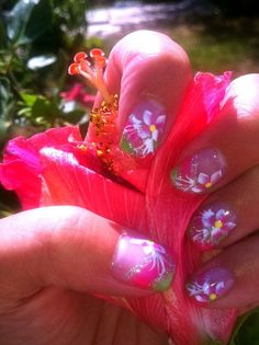 Kathy's summer nails designed by Thanh