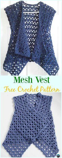 Crochet Mesh Vest Free Pattern - #Crochet; Women #Vest; Free Patterns