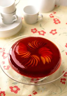Plum hibiscus gelatin-dessert- The hibiscus flower layer gives this dessert an unexpected touch of flavor and color!