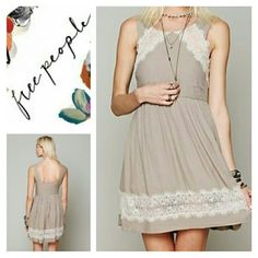 FREE PEOPLE Georgia Lace Dress Size 6 Gorgeous lace detail  Sleeveless Gently worn and in Gorgeous condition Sz.6  Bundle and save Free People Dresses