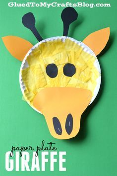 Paper Plate Giraffe - Kid Craft More & Paper Plate Tiger - Kid Craft | Pinterest | Tigers Craft and Zoos