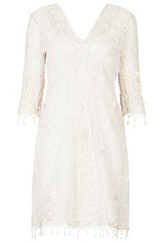 **Robe midi en dentelle crochetée Kate Moss pour Topshop