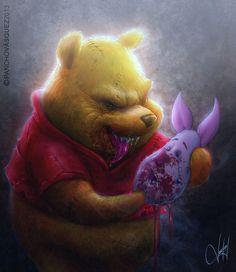 Winnie the Pooh...his true colors...Ha!