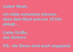 Postkarte:  Lieber Noah, ich hätte schwören können ...