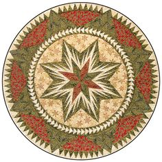 Bradley and Judy Niemeyer designed the layout and foundation pieces for a Tree Skirt we call Christmas Celebration. A collection of fabrics designed by Hoffman Fabrics of California were used to make
