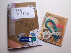 """""""Crafty Collage Zine."""" Comes with a mini collage kit to get you started. Rad! Etsy."""