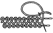 interlaced band stitch