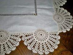 How to Crochet a Bodycon Dress/Top Crochet Boarders, Crochet Lace Edging, Crochet Square Patterns, Lace Patterns, Crochet Trim, Double Crochet, Tablecloth Fabric, Crochet Tablecloth, Filet Crochet
