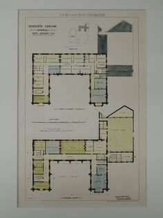 bishops house newark nj 1873 original plan goldie child kleines haus designkleine huserblaue druckecontainerhaus - Versand Container Huser Design Plne