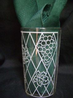 Four Vintage Tumblers Grandmas Retro Kitchen 50s by junquegypsy, $19.90