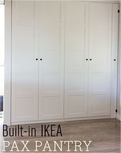 Jenna Sue shares how she used IKEA Pax wardrobes to create a built in pantry.
