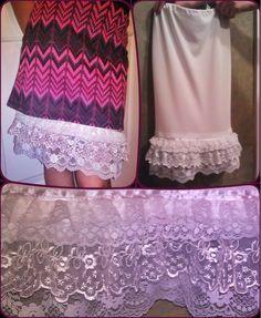 Made a skirt extender from this tutorial- http://pinkpolkadotcreations.com/2012/05/07/skirt-extender-slip/