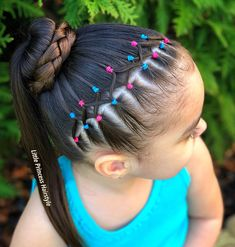 La imagen puede contener: una o varias personas, primer plano y exterior Little Girls Ponytail Hairstyles, Easy Toddler Hairstyles, Boys Long Hairstyles, Baby Girl Hairstyles, Princess Hairstyles, Braided Hairstyles, Curly Hair Styles, Natural Hair Styles, Girl Hair Dos