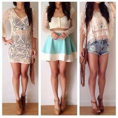 blouse skater skirt light blue lace summer crop tops pastel cutoff denim shorts denim, studs, high rise shorts, short, light wash denim, whi...