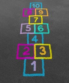20 BLOGS FEATURING PLAYGROUND GAMES FOR YOUR LITTLE ONES    Hop scotch------ loved playing this as a kid and with my kids!!!!!! :)