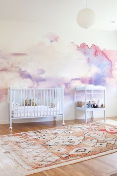Watercolor Abstract Clouds Removable Wallpaper | COLORAYdecor.com