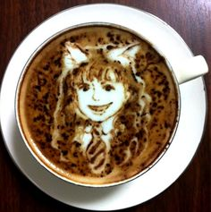 .·:*¨¨*:·.Coffee ♥ Art.·:*¨¨*:·.  Hermione Granger latte art