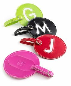 initial luggage tags