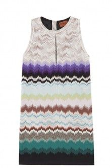 patterned mini dress by MISSONI. Available in-store and on Boutique1.com