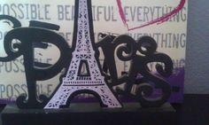 My paris eiffel tower decoration