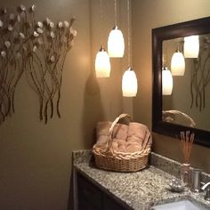 Bathroom Light Fixtures Hanging sean's diy bathroom lighting makeover — before & after | lights