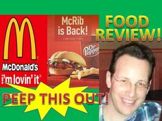 McDonald's McRIB Review! Peep THIS Out!  McDonald's McRIB is back again! The return of a true classic!  Peep THIS Out!  Find out if I'm Lovin' it as we go hands-on with this iconic sandwich!  Is it just as juicy, saucy and delicious as ever?  You know what you need to do, guys!  Peep THIS Out!