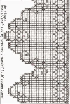 Afbeeldingsresultaat voor cortinas tejidas a crochet Filet Crochet Charts, Crochet Borders, Crochet Diagram, Crochet Patterns, Crochet Curtains, Crochet Doilies, Crochet Flowers, Crochet Home, Crochet Trim