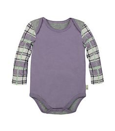 Plaid Sleeve Bodysuit - Burts Bees Baby