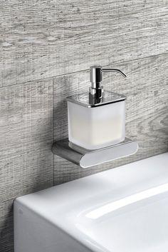 FLORI dávkovač mýdla, chrom/sklo satin : SAPHO E-shop Bathroom Accessories, Sink, Retro, Shopping, Home Decor, Inspiration, Products, Accessories, Sink Tops